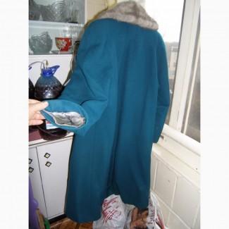 Пальто Жен зимнее шерстяное с норкой, р. 44-46, рост 158см. б/у, в хорошем состоянии б/у