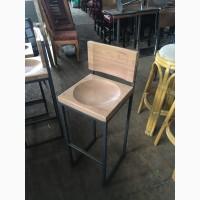 Барный стул б/у со спинкой в стиле лофт для ресторана, бара