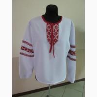 Вышиванка украинская с тесьмой в народном стиле