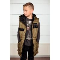 Детские весенние куртки - жилетки Даниил для мальчиков 7-12 лет, цвета разные, опт и розница
