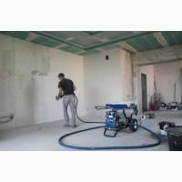 ШПАКЛЕВКА стен и потолков Механизированным Способом