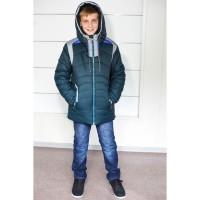 Модная тёплая зимняя куртка для мальчиков, возраст 5-11 лет, цвета разные