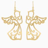 Золоті сережки та кулон Душа Ангела