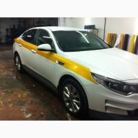 Оклейка Такси Пленкой по ГОСТу в Белый Желтый цвет - Тонировка - Лицензия