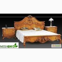 Элитная дубовая мебель для спальни, Кровать Королева