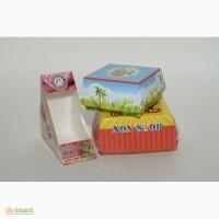 Упаковка из картона для еды и фаст фуда