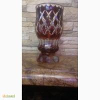 Продам богемский хрусталь ваза