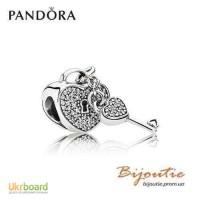 Оригинал PANDORA шарм ключ к сердцу 791429CZ