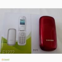 Мобильный телефон Samsung E 1272 DUOS красного цвета новый. В упаковке