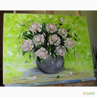 Картина маслом Букет троянд 45х60
