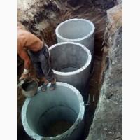 Дренажная Выгребная яма, септик, канализация, с переливом из ж/б колец