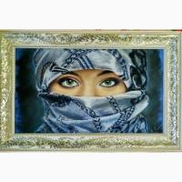 Картина автораЗеленые глаза-пастель, 55х32