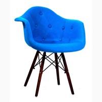 Кресло Leon (Леон) Soft W Шерсть (желтый, синий, зеленый, бирюза, серый) ножки орех