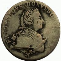 Германия 1/12 рейхсталера 1752 год СЕРЕБРО! РЕДКИЙ
