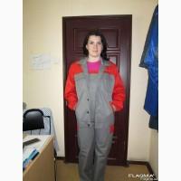 Костюм рабочий серый с красной кокеткой, пошив под заказ