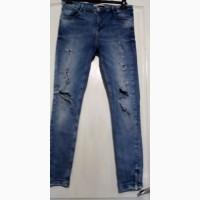 Рваные стрейчевые джинсы скины Zara