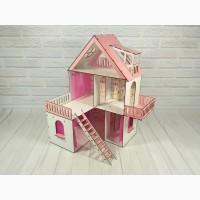 Деревянный кукольный домик для кукол Лол Солнечная Дача, 3 этажа