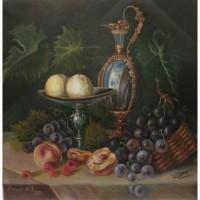 Натюрморт с персиками картина