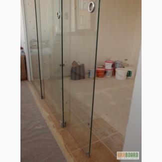 Раздвижные межкомнатные перегородки из стекла