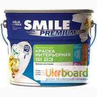 Краска SMILE Premium SI-23 латексная, белая матовая