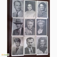 Фотографии народных и заслуженных артистов СССР и УССР, 1952-55 гг