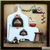 Объёмное панно, украинский сувенир, картина, подарок