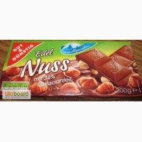 Шоколад Edel Nuss (с цельным лесным орехом) - 200 гр
