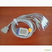 Кабель для ЭКГ MAC-1200/500 с отведениями 10 проводов