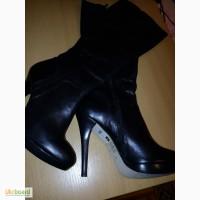 Продам новые шикарные изящные кожаные женские сапоги