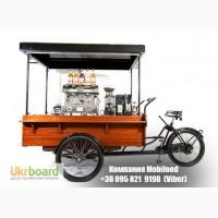 Велотележка для мобильной кофейни и быстрой еды