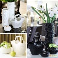 Керамические вазы для декора, наборы вазы