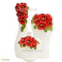 Керамические вазы с декором ручной лепки