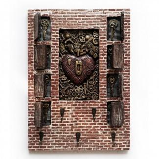 Настенная ключница Оригинальный подарок для ценителей декора в стиле LOFT