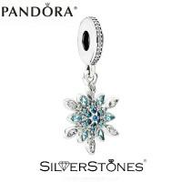Оригинал Pandora Пандора шарм подвеска Блестящая снежинка арт. 791761NBLMX