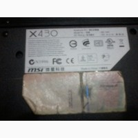 Ноутбук MSI X430- камера
