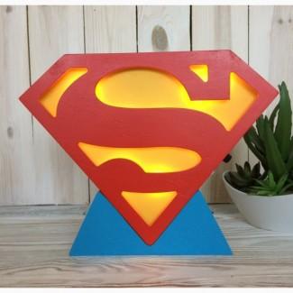LED светильник для мальчика Супермен