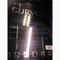 Защитное ультрафиолетовое стекло на Samsung Galaxy S7 edge S8 S8 plus S9 plus УФ стекло