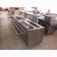 Линия раздачи, мармит, прилавок холодильный, оборудование для столовых