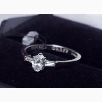 Брендовое кольцо с бриллиантами в белом золоте