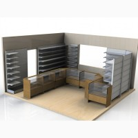 Торговые металлические стеллажи для торговых павильонов