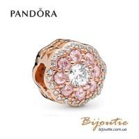 PANDORA шарм ROSE ― Розовый сияющий цветок 787851NPM