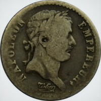 Франция 1/2 франка 1810 год СЕРЕБРО! ОЧЕНЬ РЕДКАЯ