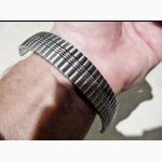 Браслет 18 мм новый, растягивающийся, нержавеющая сталь, для часов