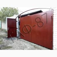 Ворота уличные (въездные) металлические, ворота распашные, ворота уличные