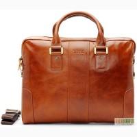 Продается сумка для ноутбука 15 из натуральной полированной кожи теленка
