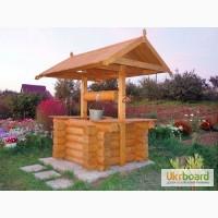 Вироби з дерева на замовлення: столи, лавки, туалети, альтанки, гойдалки, колодязі, вагонка
