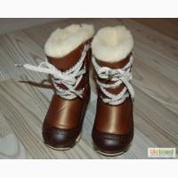 Легкие и теплые Сноубутсы /дутики (Польша) Demar Joy коричневый c 20-25р