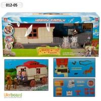 Домик Happy Family, флоксовые животные, дом на колесах, в кор. 012-05