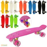 Скейт пенни MS0848-2, 55 14, 5см, алюм.подвеска, колеса Пу, свет, подш. ABEC-7