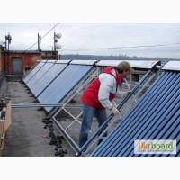 Солнечные коллектора установка, обслуживание
